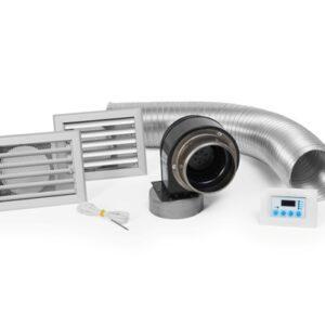 El Kit de ventilación, permite a través de sus aspas en moviemiento, hacer circular el aire caliente por toda la habitación. Calentando más con la circulación de aire caliente. Este kit de ventilación es únicamente compatible con el modelo Prisma (PR90) de la serie Olympo.